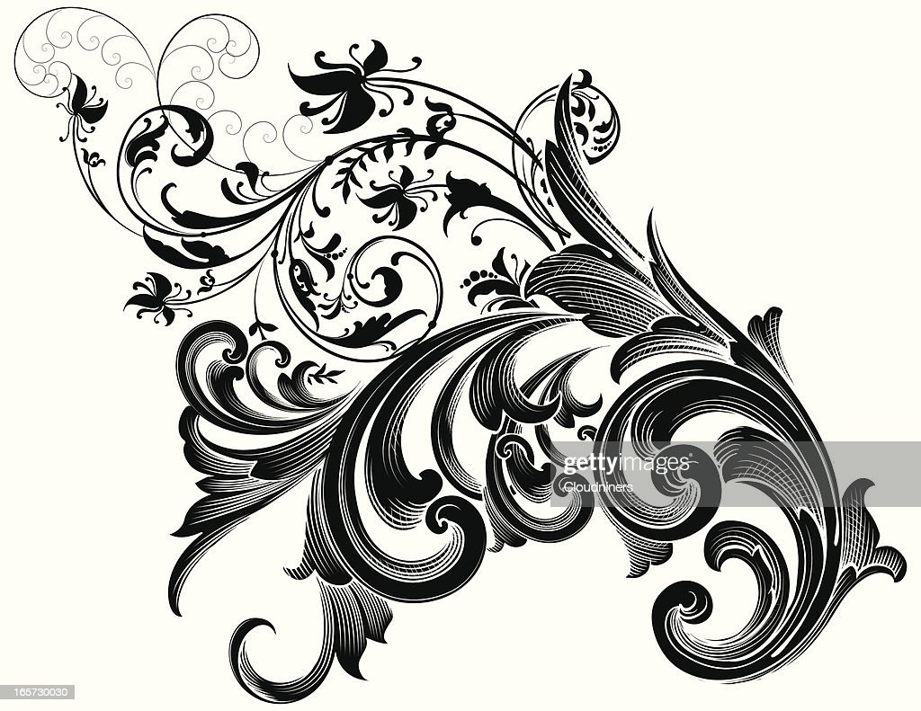 scrollwork ornamental vector art getty images. Black Bedroom Furniture Sets. Home Design Ideas