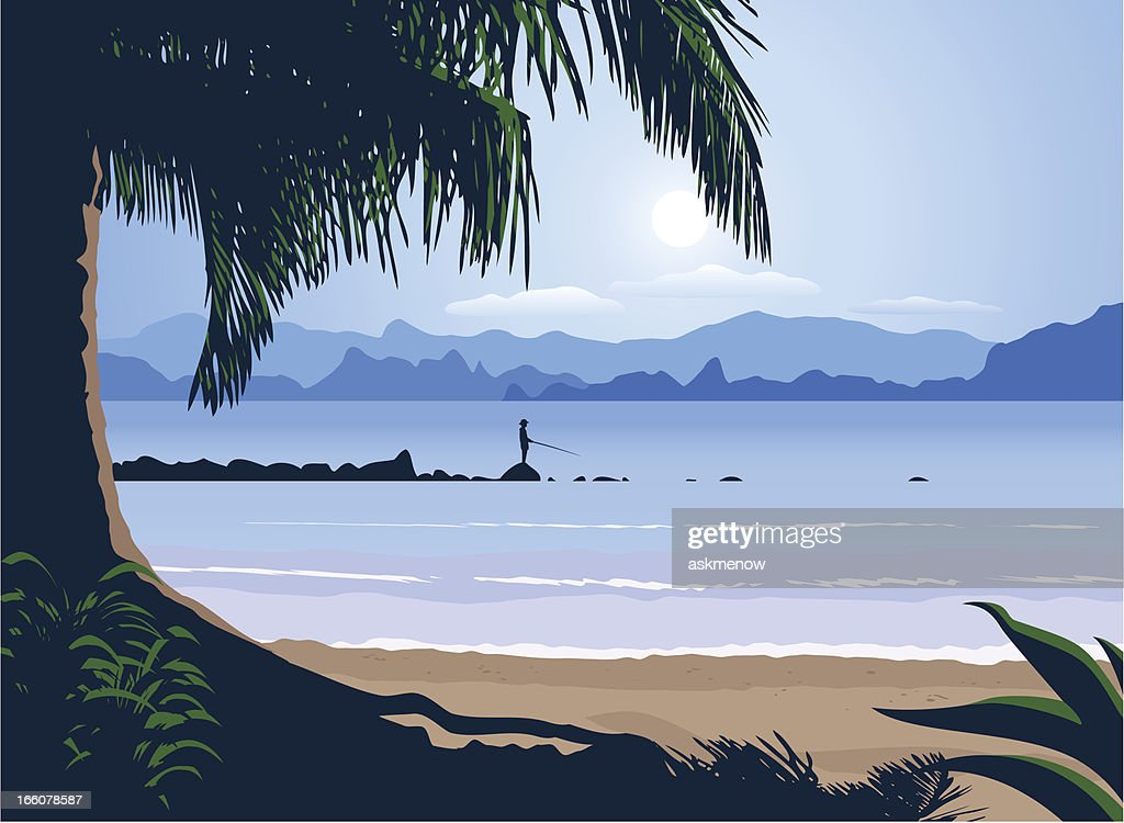 Sea landscape : Vector Art