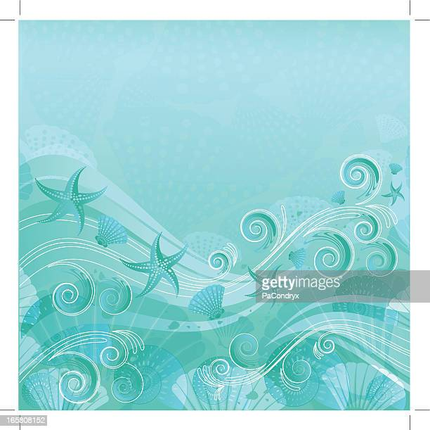 Sea Water Floral Background