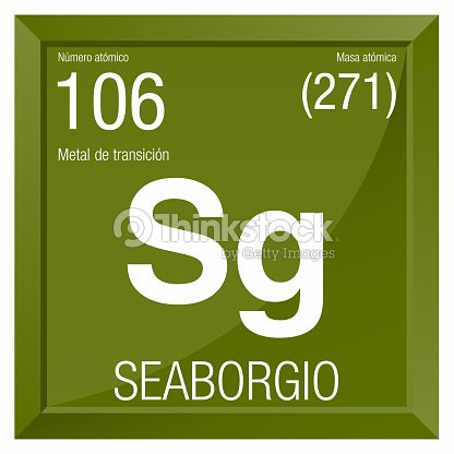 Seaborgio Symbol Seaborgium In Spanish Language Element Number 106