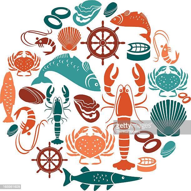 Seafood and Fish Icon Set