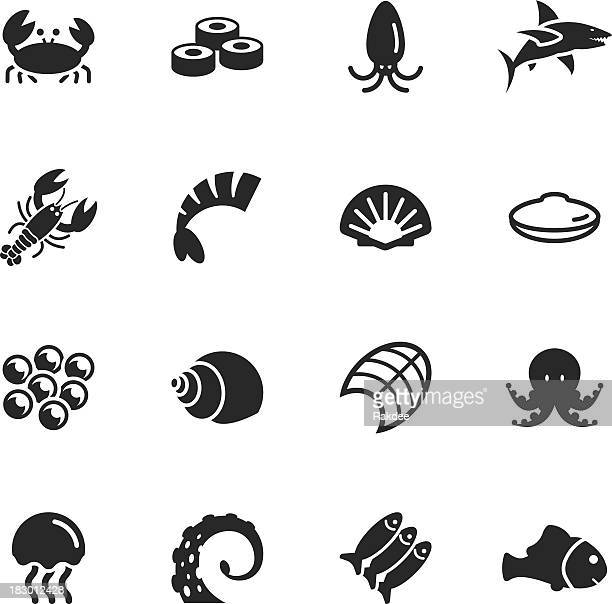 Seafood Silhouette Icons