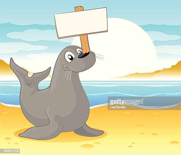 Seal with a blank sign