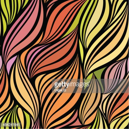 Seamless abstract curly wave pattern : Vector Art