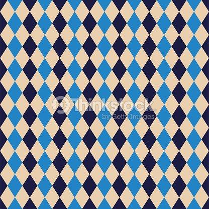 Seamless Argyle Diamond Harlequin Pattern Texture Background Wallpaper Vector Art