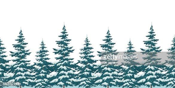Sem costura fundo de árvores de Natal : Arte vetorial