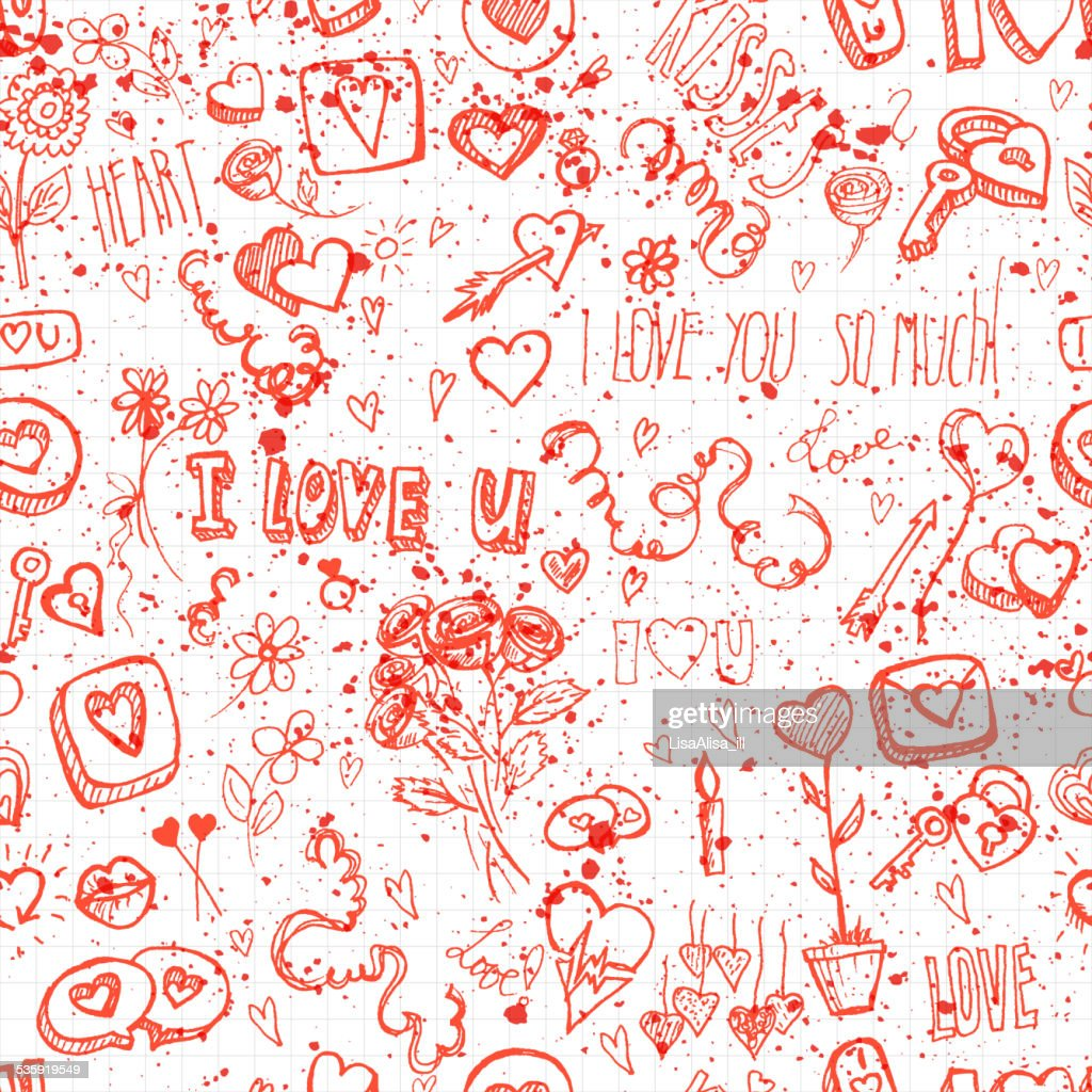 seamless background for Valentine's day : Vector Art