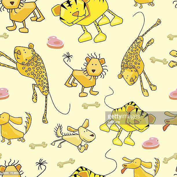 Seamless background - Wildlife animals
