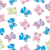 Seamless background with cute puppy illustration suitable for wallpaper, postcard, and scrap paper