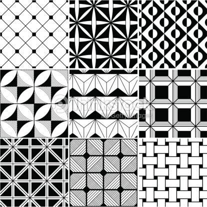 Seamless black and white background vector art thinkstock for Imagenes de cuadros abstractos famosos