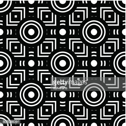 sans couture noir et blanc motif g om trique simple vecteur clipart vectoriel getty images. Black Bedroom Furniture Sets. Home Design Ideas