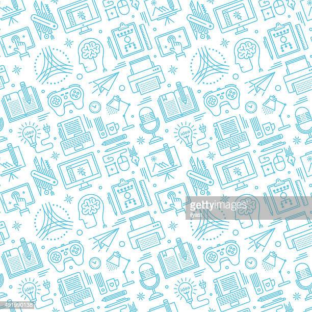 Seamless Brainstorming Pattern