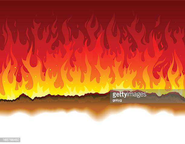 Seamless burning paper and fire background