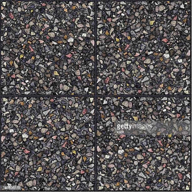 seamless cement gravel tiles background