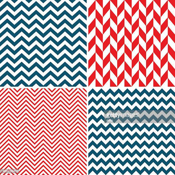 Seamless chevron pattern in different colors