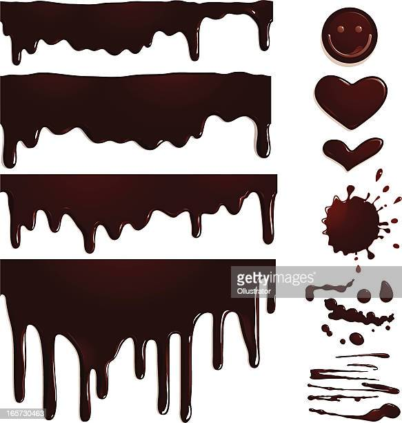 Seamless Chocolate drips and elements