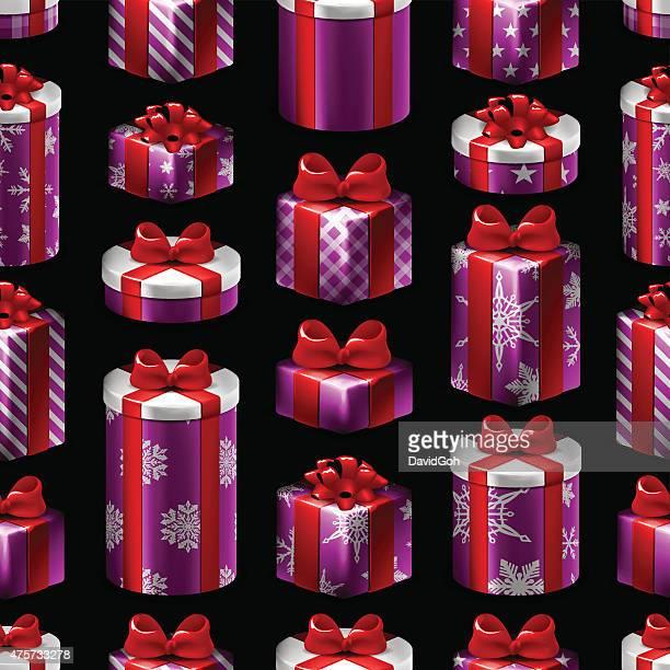 Seamless Christmas Pattern - Gifts