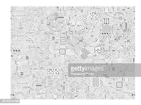 Seamless Circuit background : stock vector