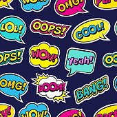 Vector illustration of modern vintage stickers, pop art style