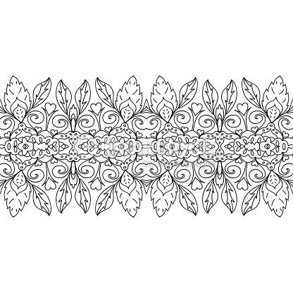 Seamless Coloring Page Border stock vector | Thinkstock