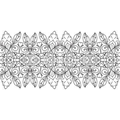 Perfecta Para Colorear Página Frontera Arte vectorial   Thinkstock