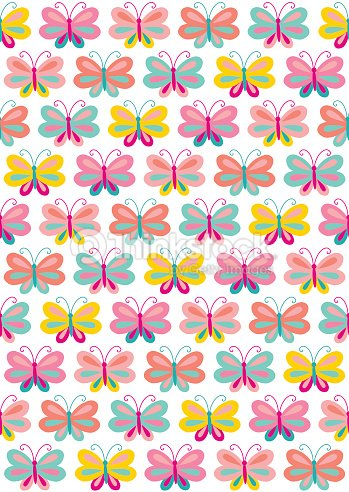 Seamless Cute Butterfly Backgrounds Stock Vector Thinkstock