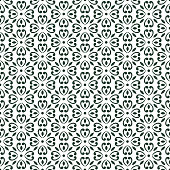 seamless damask pattern in dark. Vintage ornament. background for wallpaper, printing on the packaging paper, textiles, tile.