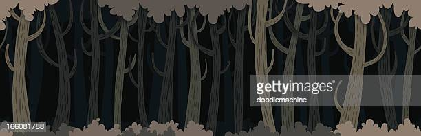 Seamless Dark Forest Background