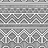 seamless ethnic pattern, black and white geometric pattern, print for your textile, vector illustration