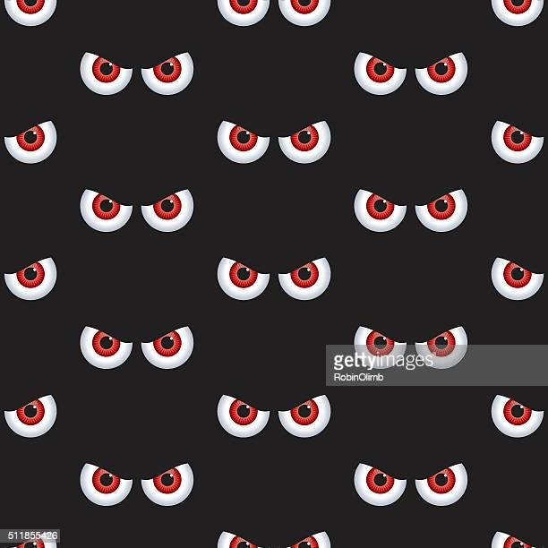 Seamless Evil Eyes Pattern