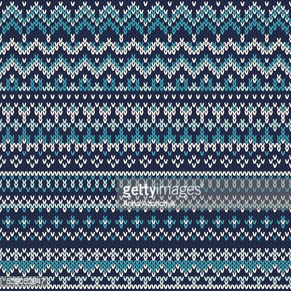 Seamless Fair Isle Knitted Pattern Festive And Fashionable Sweater ...