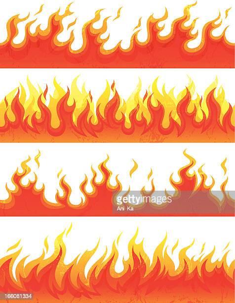 Nahtlose Feuer mit grunge
