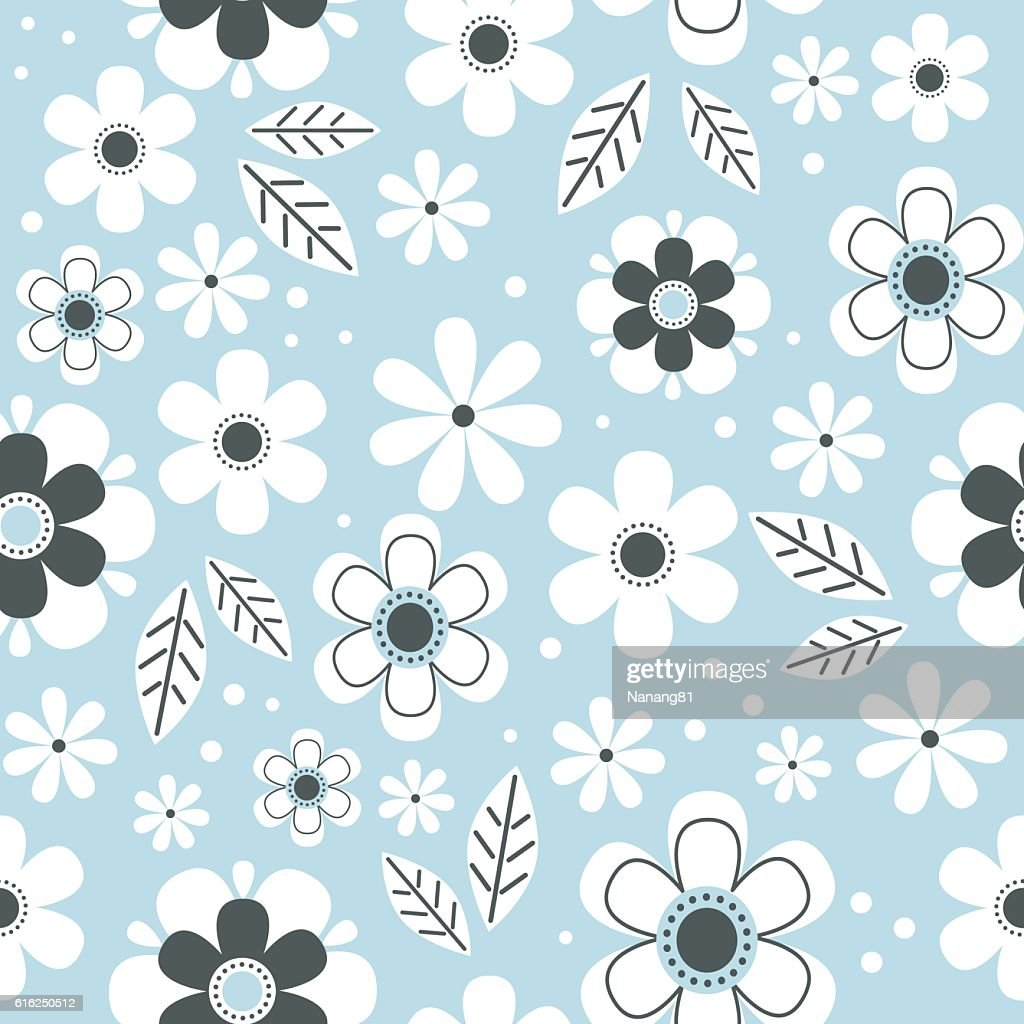 Seamless floral background : Vector Art