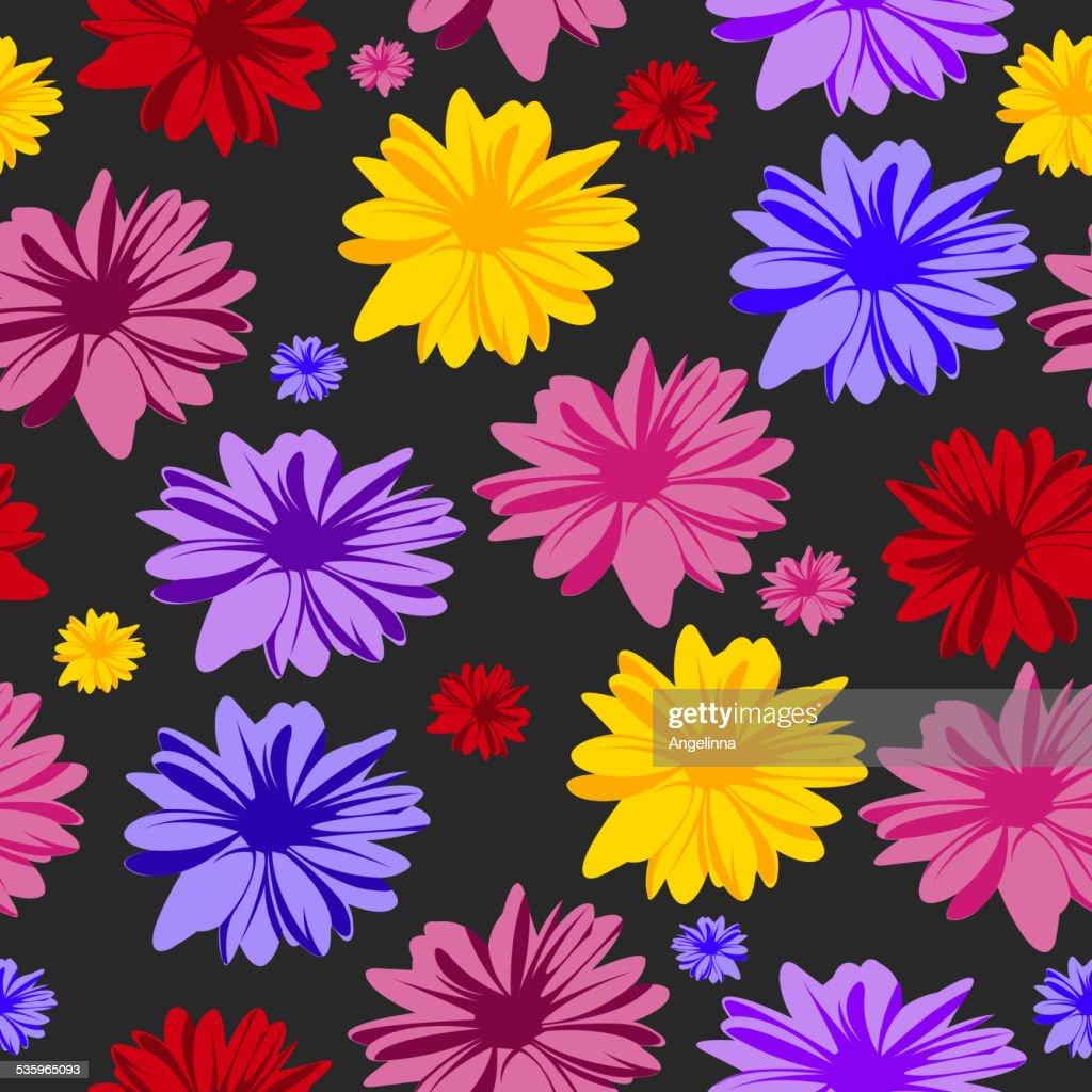 Seamless floral pattern : Vector Art