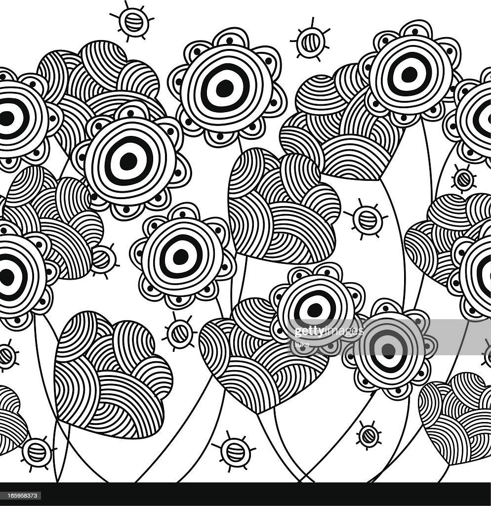 seamless flower pattern : Vector Art