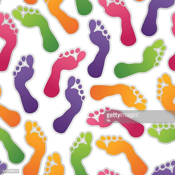Seamless Footprint Background