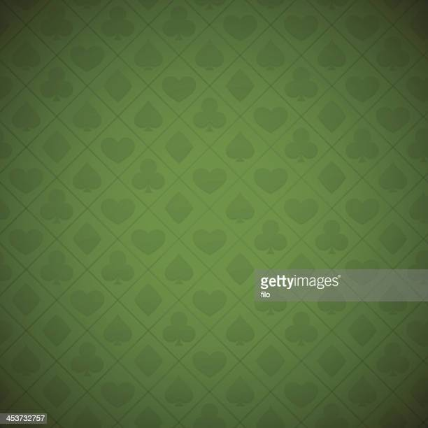 Seamless Gambling Card Suits Background