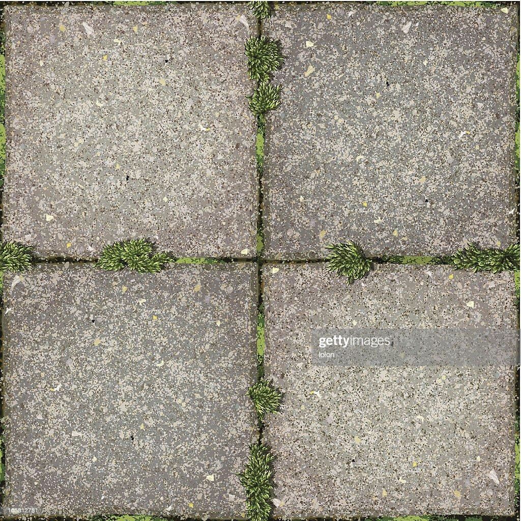 Seamless Garden Tiles With Moss Background : Vector Art