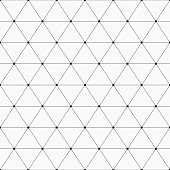 Vector seamless pattern. Geometric background with triangles. Dots connected with lines. Modern stylish texture. Repeating geometric tiles.