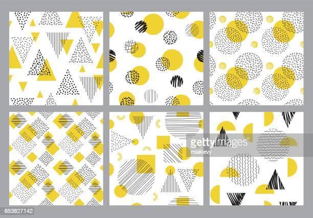Naadloze geometrische patroon set