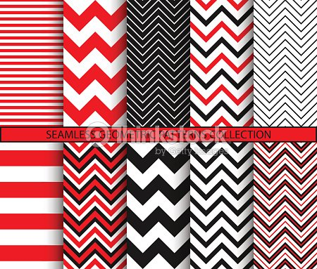 Seamless geometric patterns collection : stock vector