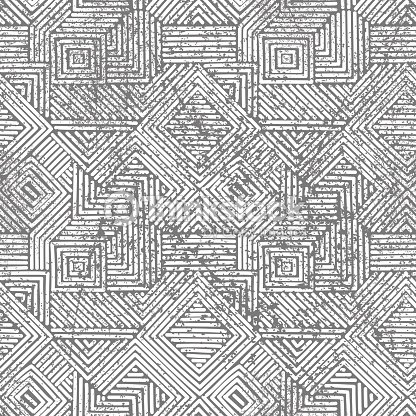 Seamless Geometric Vintage Print Grunge Texture stock vector