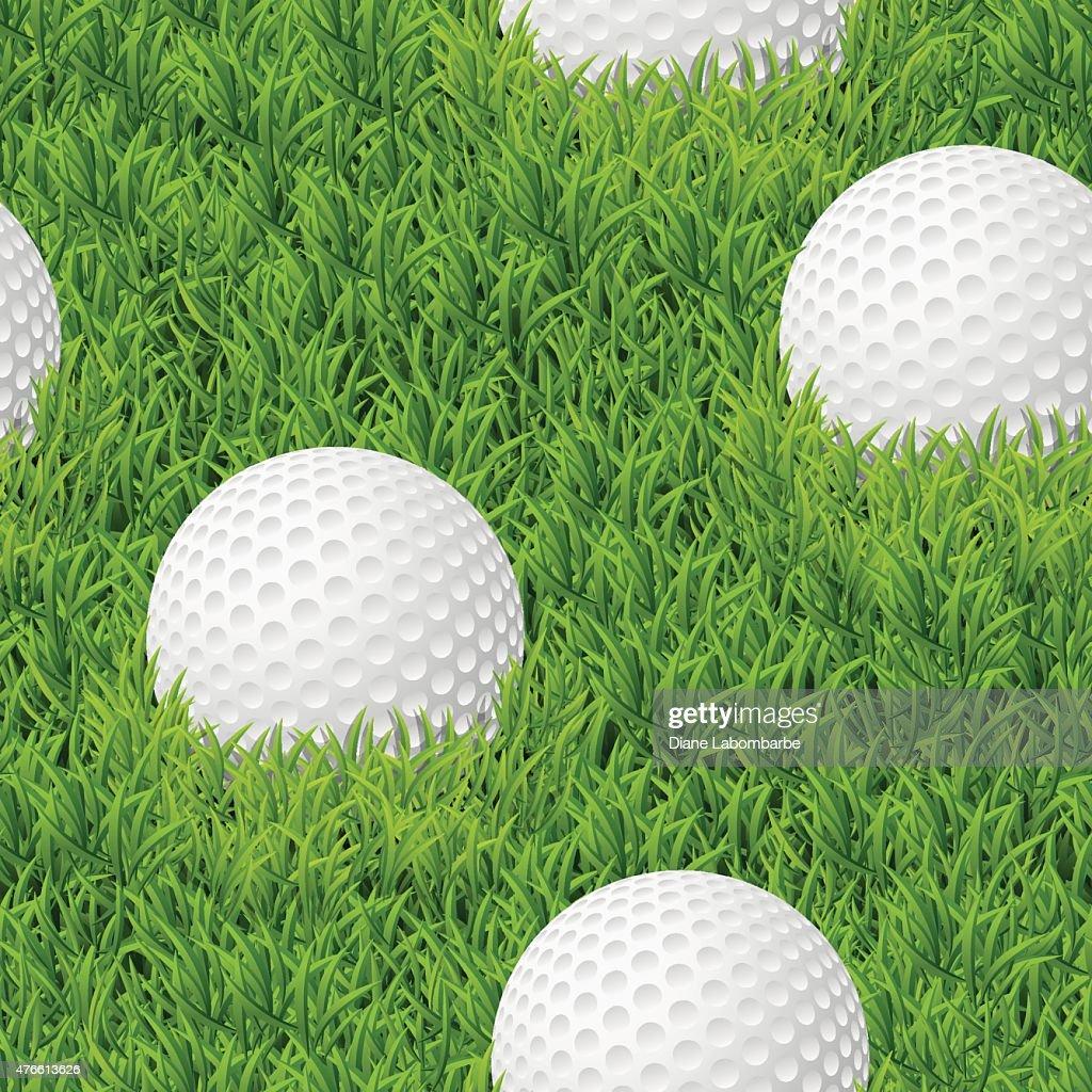 seamless golf ball grass pattern vector art getty images