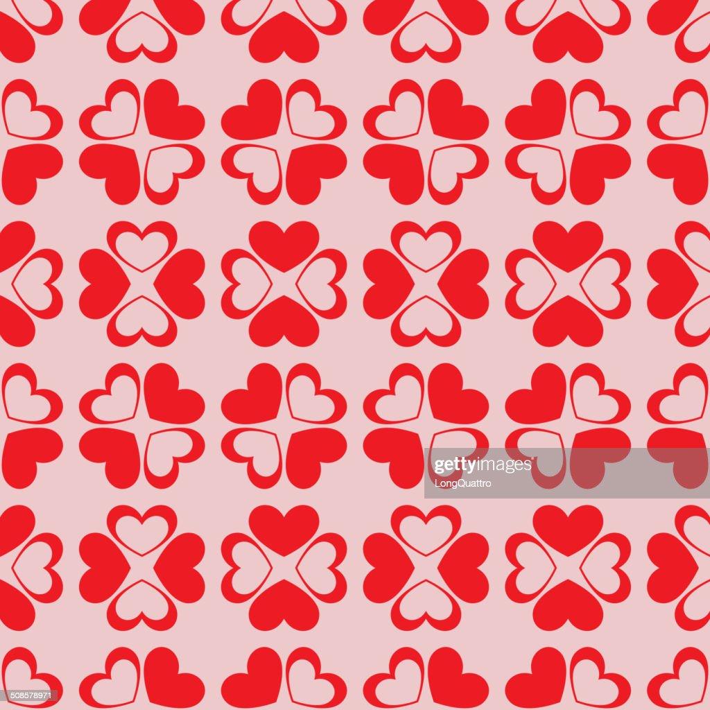 Seamless hearts background : Vector Art