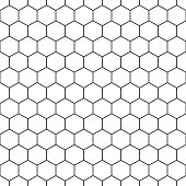 Seamless hexagonal pattern - vector geometric creative background.