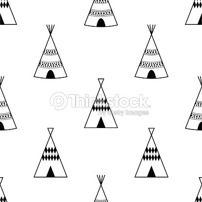 how to draw a tipi