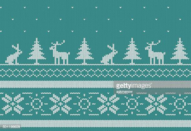 Seamless knitted Norwegian pattern