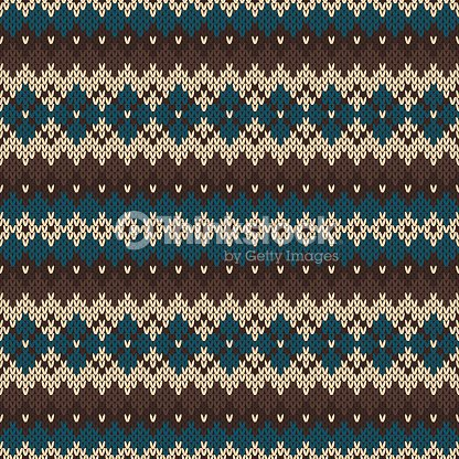 Seamless Knitting Pattern In Traditional Nordic Fair Isle Style