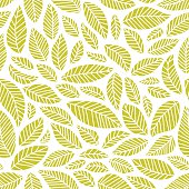 Seamless pattern of handdrawn leaves