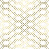 Seamless linear geometric vector pattern. Art deco style.